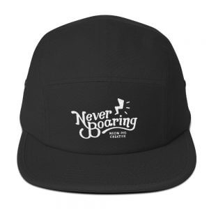 NeverBoaring Five Panel Cap
