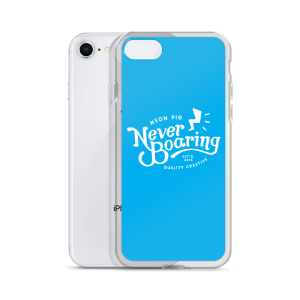 Never Boaring – iPhone Case – Cyan